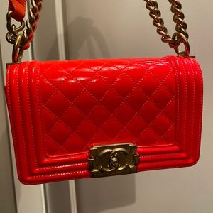CHANEL Bags - 100% AUTH CHANEL BOY NEON BAG
